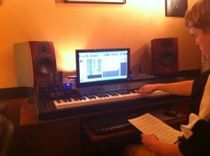 Jack working on Music Technology